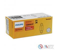 Лампа доп. освещ. C10W Festoon T10,5х43 12V 10W (картон) (мин 10 шт)
