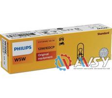 Лампа доп. освещ. W5W STANDARD 12V 5W (картон) 10шт