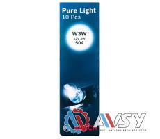 Лампа PURE LIGHT W3W 12V (Картон) (10шт)